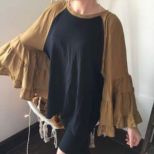 NWT Free People super wide belle sleeve top/dress